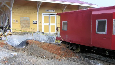 Old Fort Train Depot Renovation